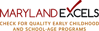 Maryland Excels - Check for quality early childhood and school age programs logo